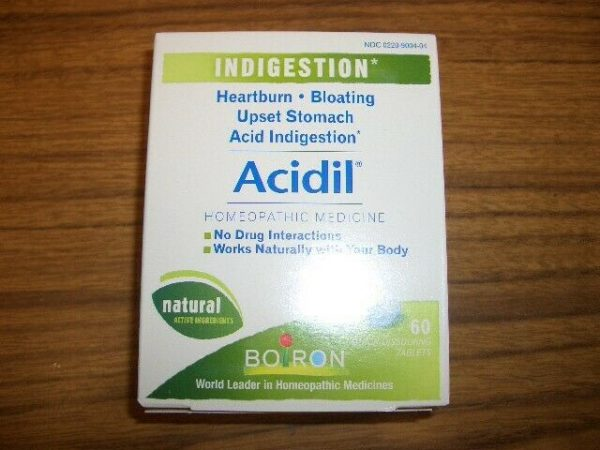 Boiron, Acidil, Indigestion, 60 Quick-Dissolving Tablets Exp 1/2023 5
