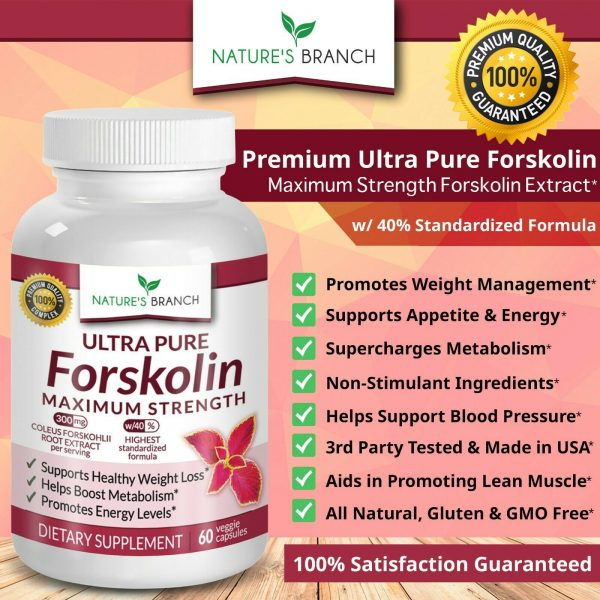 PREMIUM 100% ULTRA PURE FORSKOLIN EXTRACT FOR WEIGHT LOSS MAXIMUM STRENGTH! 3