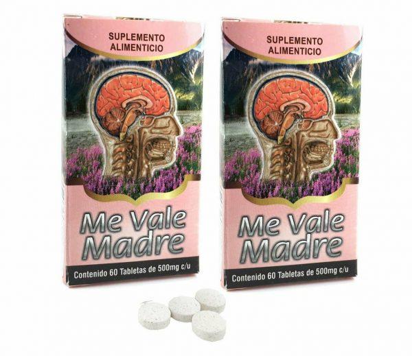 2 PACK ME VALE MADRE Tablet 2 Month Stress, Nervios, Dolor de Cabeza y Mas 120ct 1