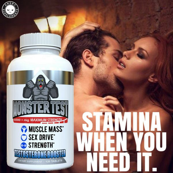 Monster Test Testosterone Booster w Tribulus All Natural For Men 6000mg w/ Zinc 5