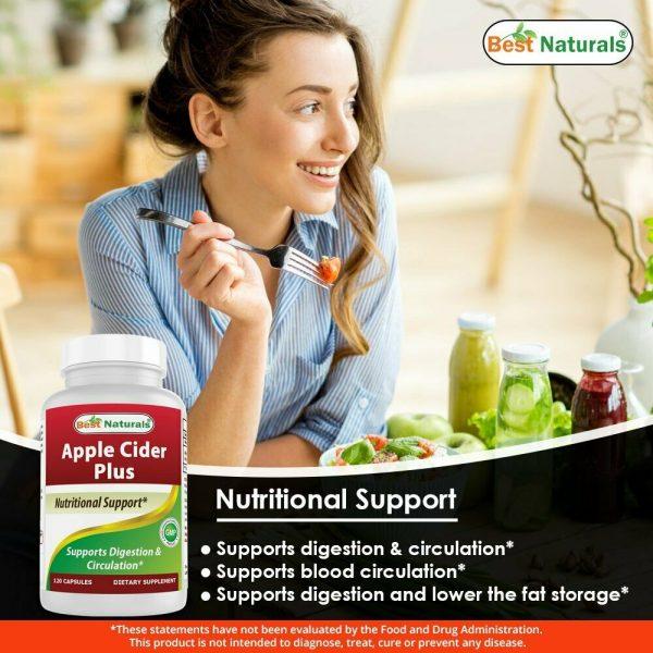 Best Naturals Apple Cider Vinegar Plus Weight Loss Supplement 120 Capsules  2