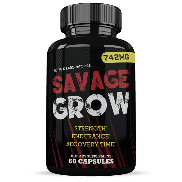 Savage Grow Natural Male Enhancement Increase Strength Stamina Energy 60 Caps 1