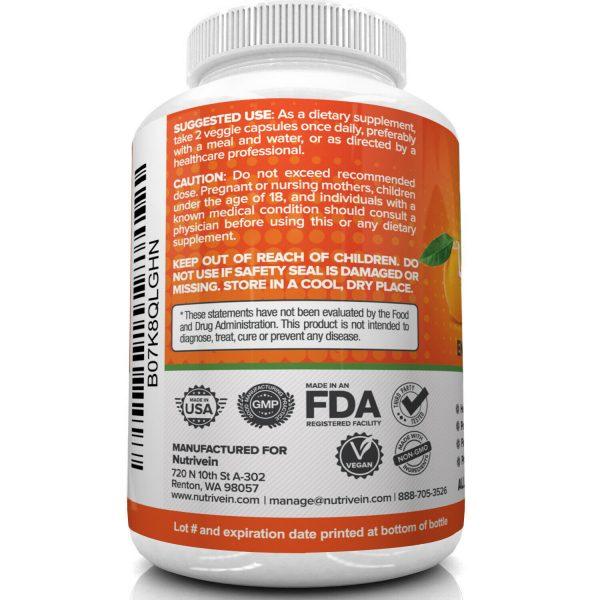 Nutrivein Liposomal Vitamin C 1600mg -180 Capsules - High Absorption Supplements 6