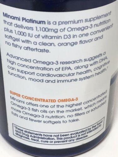 Garden of life Platinum Omega‑3 Fish Oil Orange Flavor 60 Ct Exp 2021+ 1812 4