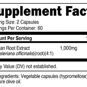 Nutricost Valerian Root Capsules 1000mg, 120 Caps - Gluten Free, Non-GMO 1