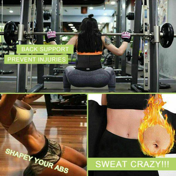 Women Waist Corset Trainer Sauna Sweat Yoga Weight Loss Body Shaper Trimmer Belt 10