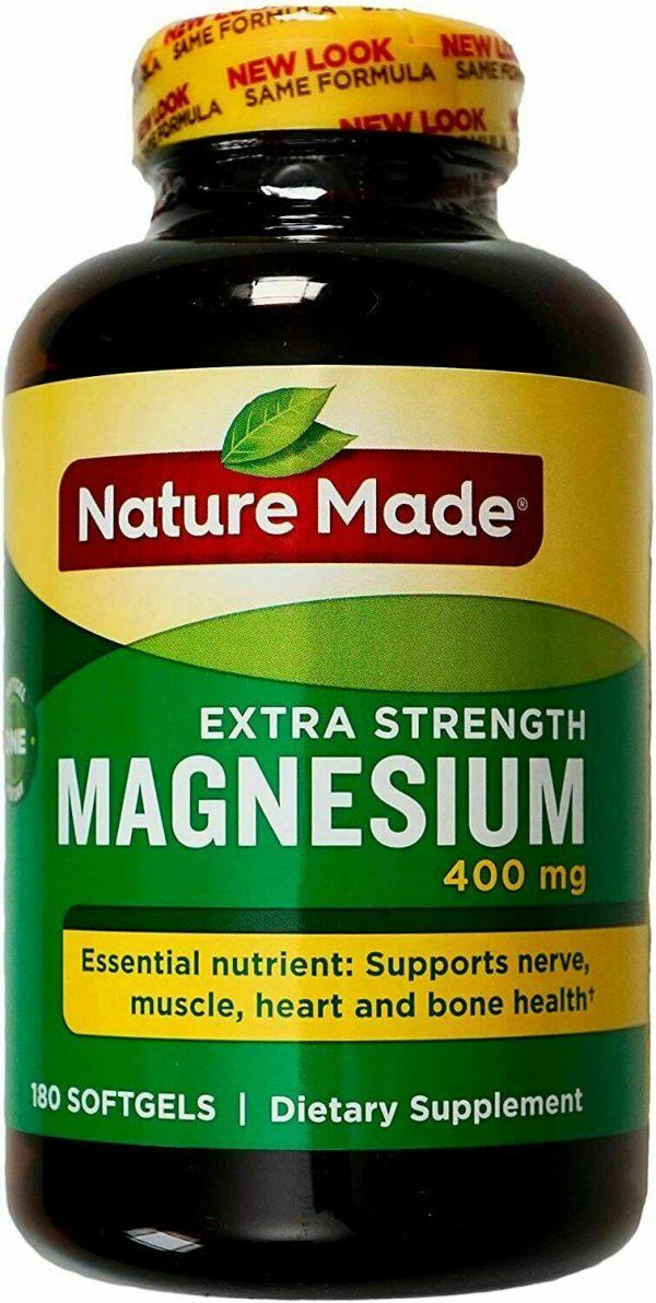 Nature Made Extra Strength Magnesium 400 mg 180 Softgels EXP 05/2021