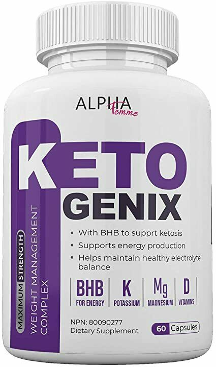 Alpha Femme Keto Genix - with BHB to Support ketosis - 60 Capsules - 800 MG