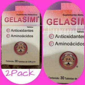 2 PACK Gelasimi:Antioxidante y Aminoácidos  60caps