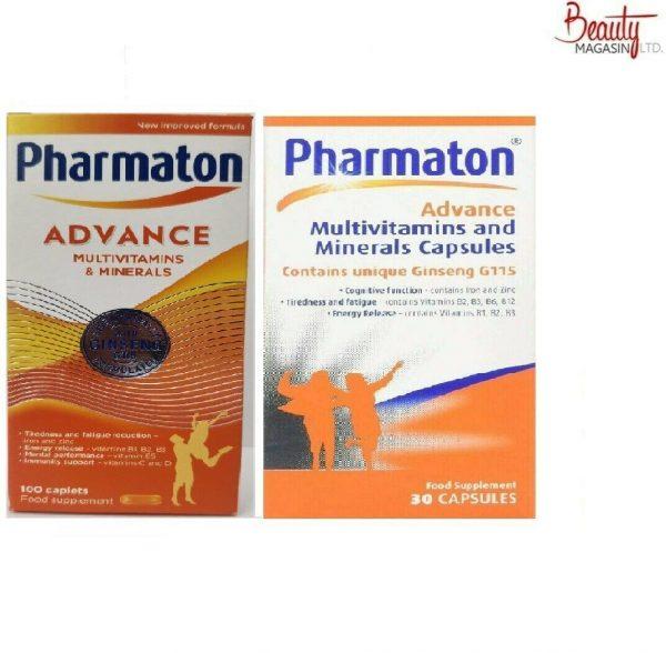 Pharmaton Capsules 100Capsules/30Capsules (containing Unique Ginseng G115)