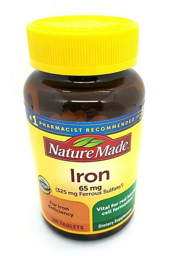 Nature Made Iron 65 mg - 365 Tablets Dietary Supplement EXP 09/2023 NEW 65MG