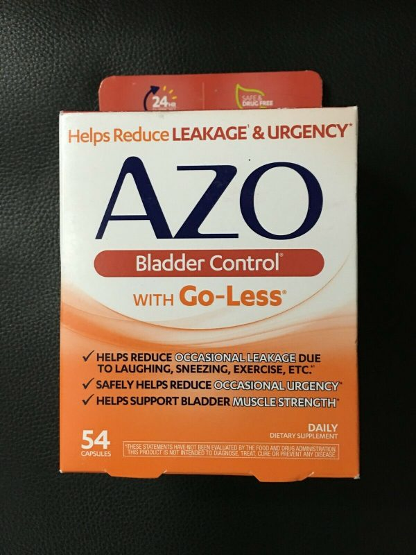 AZO Bladder Control With Go-Less 54 CT Capsules Expires FEBRUARY 2022  #0025