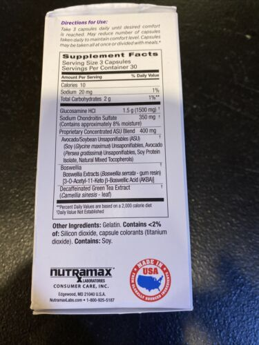 New Cosamin ASU Dietary Supplements 90 Count Exp:02/2022 Or Better! 3