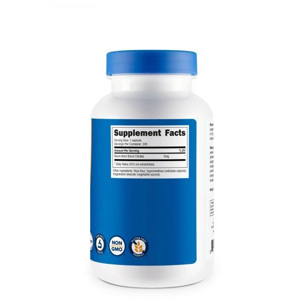Nutricost Boron Capsules 5mg Per Serving (240 Vegetarian Capsules) 3