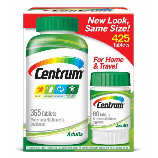 Centrum 425 Tablets Adults under 50 Multi Vitamin Mineral (365 + 60) FREE SHIPP