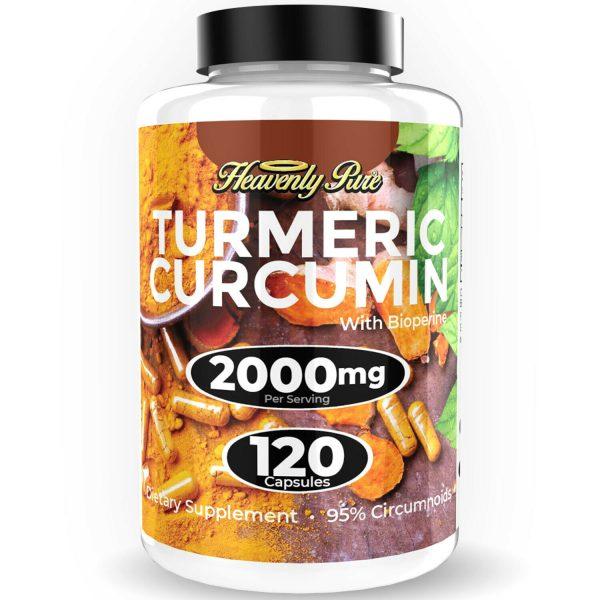Turmeric Curcumin 2000 mg High Absorption Extra Strength Vegan Capsules 120 Ct 4