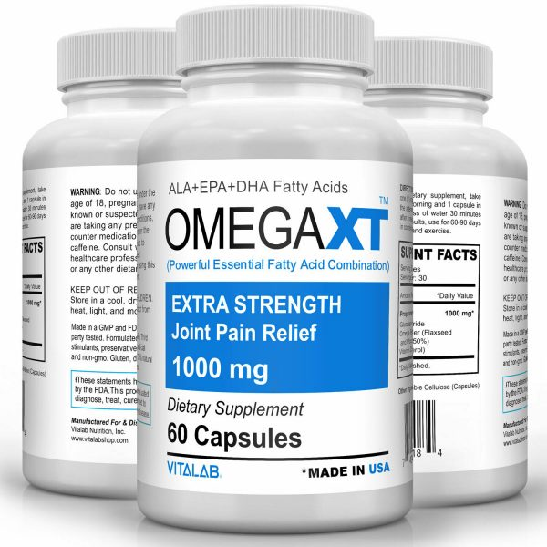 Omega XT Extra Strength Joint Support New Omega-3 Joint Pain Relief 60ct 4