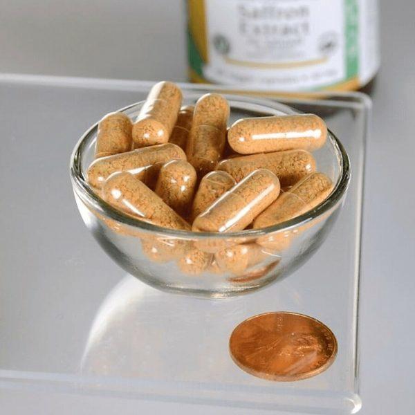 Swanson Saffron Extract - Certified Organic Saffron 30 mg 60 Veggie Capsules 2
