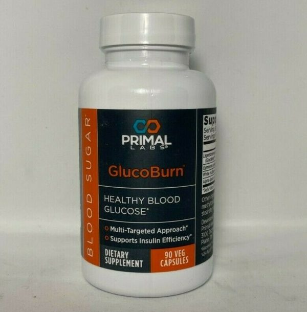 Primal Labs GlucoBurn 90 Capsules Healthy Blood Glucose Sugar - New/Sealed