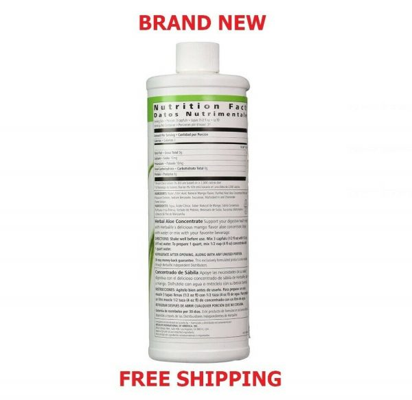 Herbalife Herbal Aloe Drink Concentrate 16 oz - Mango Flavor - FREE SHIPPING !!! 1