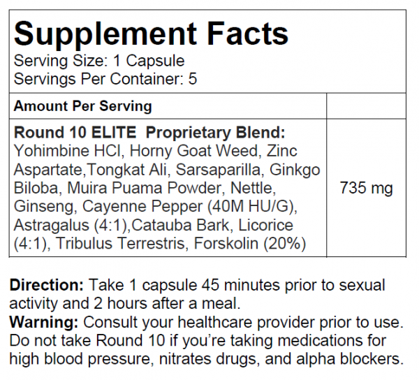 Round 10 - Male Enhancement Pills (WARNING: Maximum Strength). 1