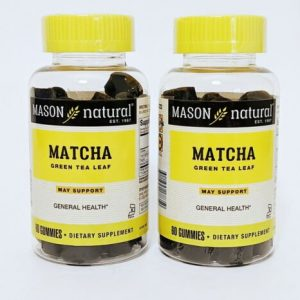 2 PACK- MATCHA GREEN TEA LEAF 60 Gummies Each