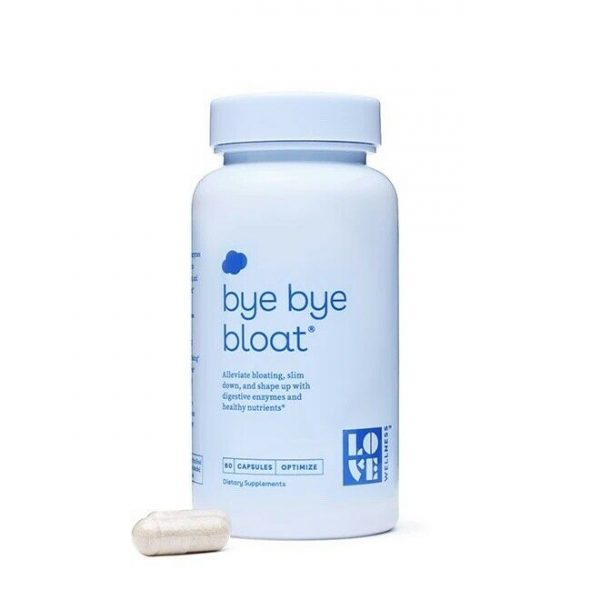 Love Wellness Bye Bye Bloat + Dietary Supplement 60 Capsules - NEW