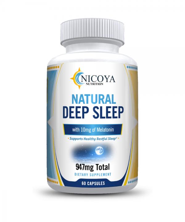 Natural Deep Sleep Supplement - Melatonin 10 mg, Sleep Aid - Deeper Nights Rest 6