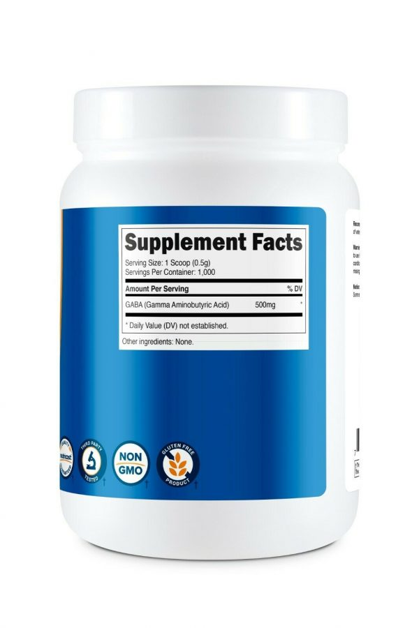 Nutricost GABA Powder 500G - Pure GABA Powder, Non-GMO, Gluten Free 4