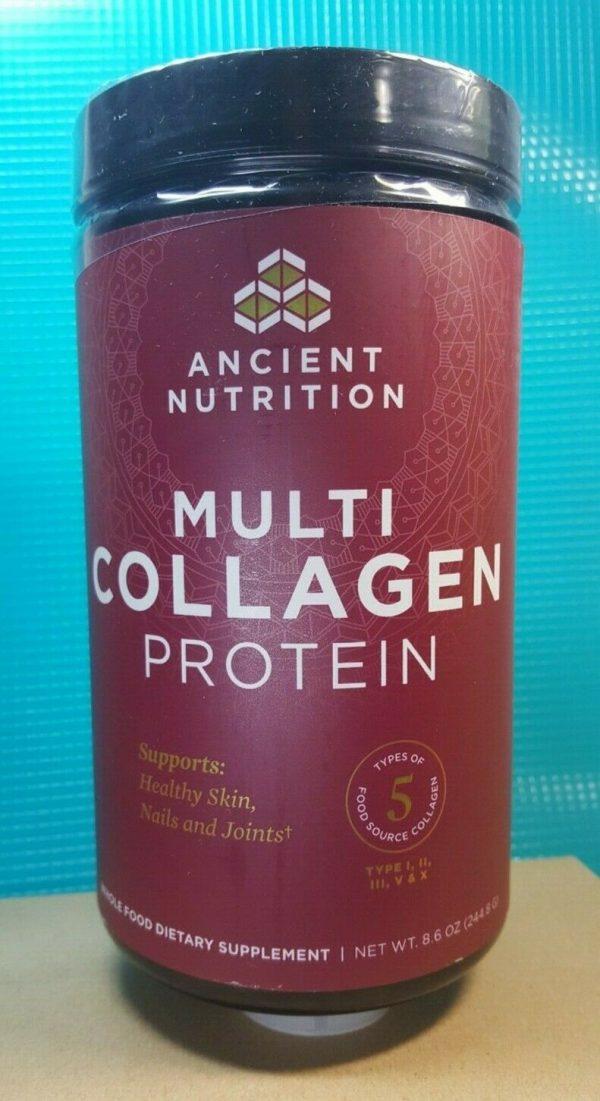 Ancient Nutrition Multi Collagen Protein Powder - 8.6oz EXP 10/22