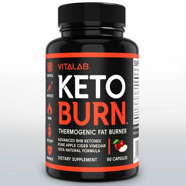 Weight Loss Pills Apple Cider Vinegar Fat Burner ACV Keto Diet Supplements 60ct 1