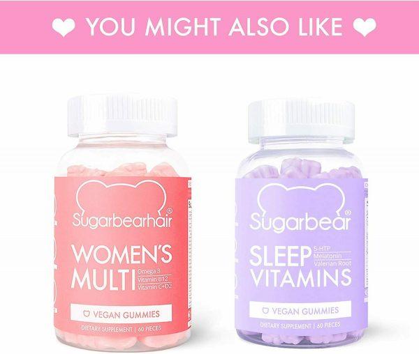 SugarBearHair Vitamins, Vegetarian Gummy Hair Vitamins 3 Pack (3 month supply) 2