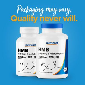 Nutricost HMB (Beta-Hydroxy Beta-Methylbutyric) 1000mg (120 Capsules)  1