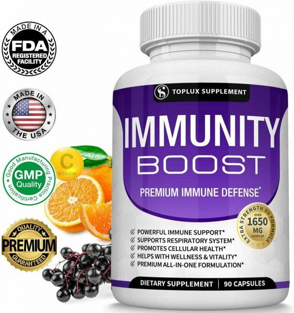 PREMIUM Immune System Booster (180 CAPSULE) Vitamin C +Zinc+Elderberry+Echinacea 2