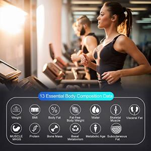 FITINDEX Smart Body Fat Scale BMI Scale Bathroom Digital Weight Wireless Scale - 1