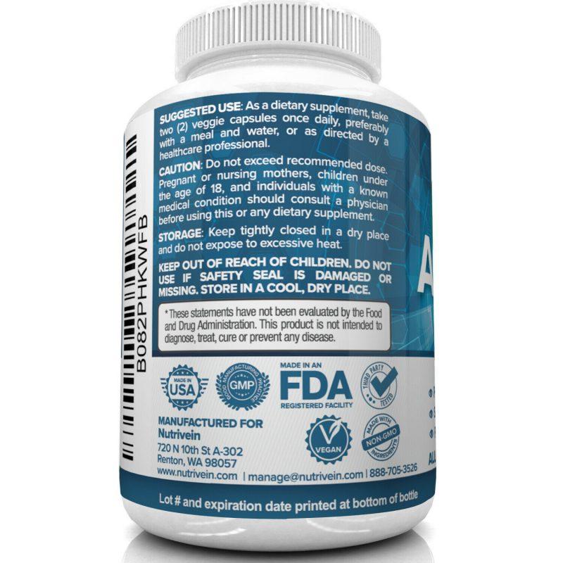 Nutrivein AREDS 2 Eye Vitamins - Supports Eye Strain Dry Eyes - Eye Health Boost 6