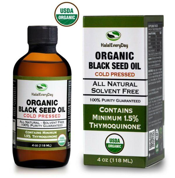 Black Seed Oil - 100% Pure Organic COLD PRESSED Cumin Nigella Sativa Unrefined 11