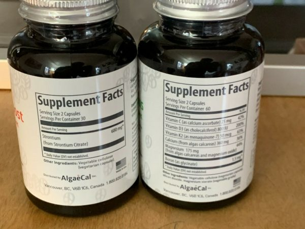 Strontium Boost + Algaecal Combination, fresh stock buy both and save 1