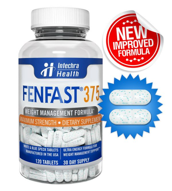 Fenfast 375 Weight Loss Diet Pills with Powerful Energy 120 White/Blue Tablets 4