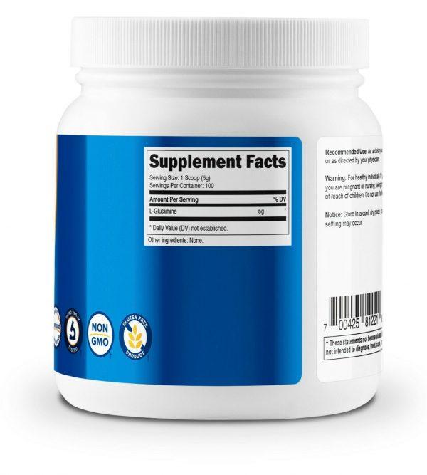 Nutricost Pure L-Glutamine Powder 500G - 100 Servings, Non-GMO & Gluten Free 4