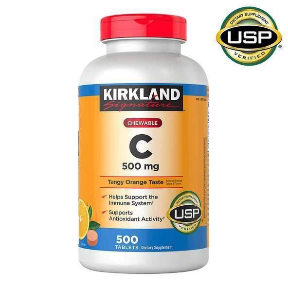 Kirkland Signature CHEWABLE VITAMIN C 500mg, 500 Tablets FREE SHIPPING