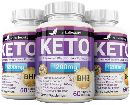 Herbal Beauty KETO BHB 1200mg PURE Ketone FAT BURNER Weight Loss Diet Pills 6