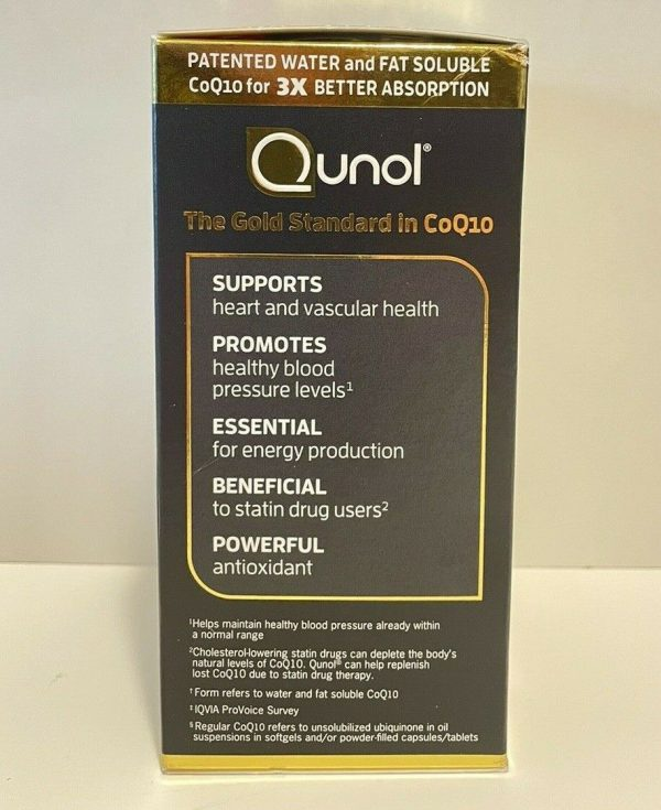 Qunol Ultra CoQ10 Better Absorption Supplement Tablet - 120 Count Exp 2024+. NEW 4