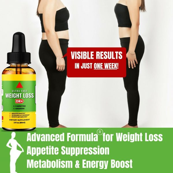 Belly Fat Burner Drops to Lose Stomach Fat - Weight Loss Supplement, Men & Women 2