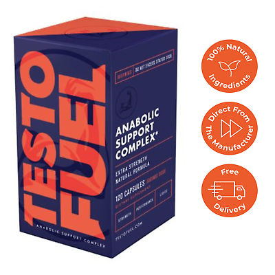 TestoFuel - #1 Best Testosterone Booster for Men 120 Capsules - BUY DIRECT