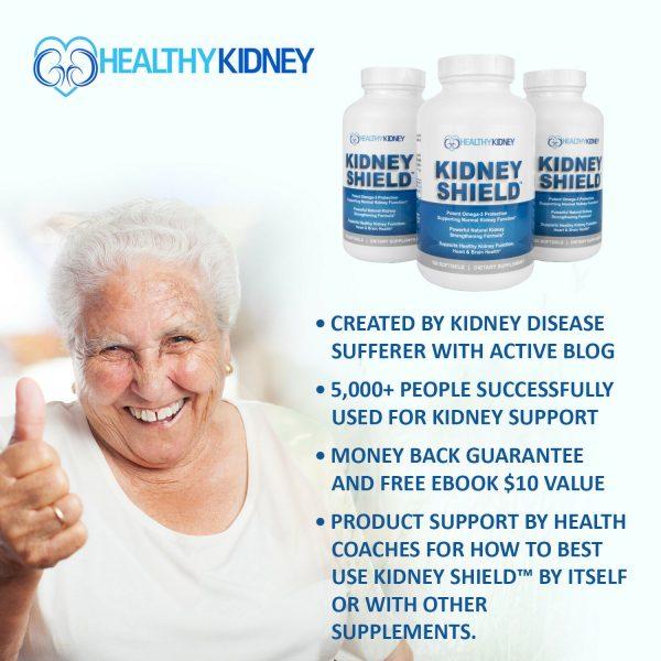 Kidney Shield Supplement Health Renal Detoxing Function Cleansing Omega 3  1