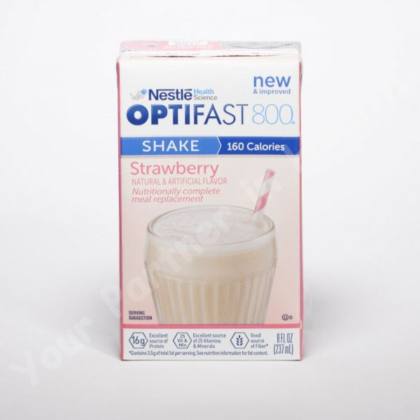 OPTIFAST 800 - READY TO DRINK SHAKES - STRAWBERRY - 27 SERVINGS - NEW & FRESH