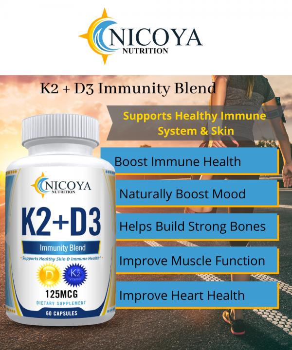 Vitamin K2 D3 Vitamin Supplement with BioPerine, Boost Immunity & Heart Health 1