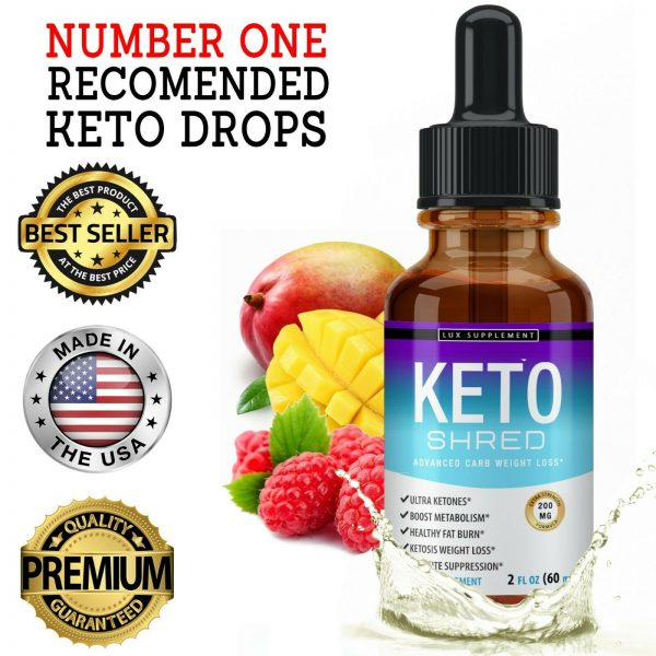 Keto Diet Shred Drops (2 PACK) Ketosis Weight Loss Supplement Fat Burn Carb Bloc 9