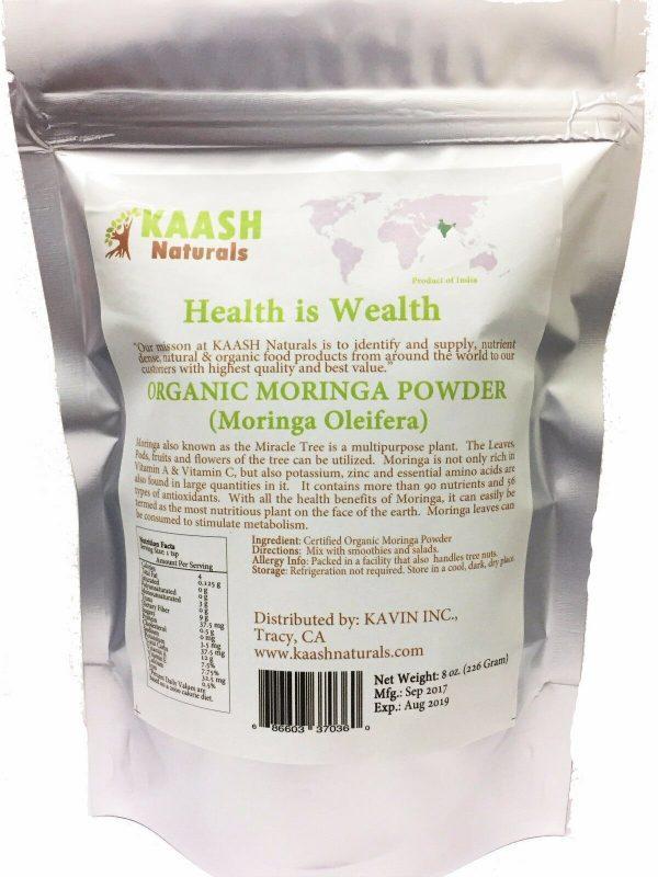 MORINGA LEAF POWDER USDA Certified ORGANIC 100% Raw Superfood,Gluten Free 1
